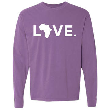 2020 Adult Comfort Long Sleeve Violet & White