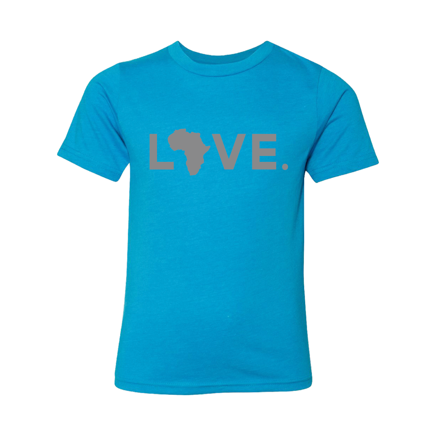 Youth Turquoise & Gray Tee