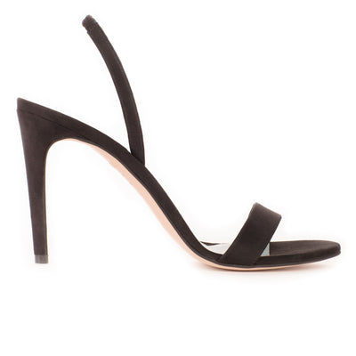 Alexandra | Black Suede-Effect Slingback Sandals-women's shoes-AERA-US 5 / IT 35-allTRUEist