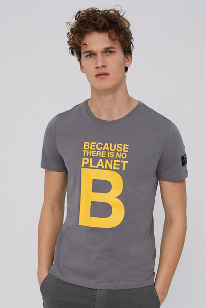 Natal Great 'B' Dark Grey T-Shirt-men's tshirts-Ecoalf-XS-allTRUEist