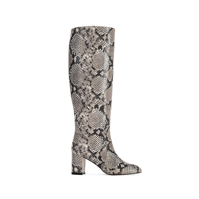 Gisele | Natural Python-Effect Knee Boots-women's shoes-AERA-US 5 / IT 35-allTRUEist