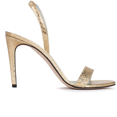 Alexandra | Gold Python-Effect Slingback Sandals-women's shoes-AERA-US 5 / IT 35-allTRUEist