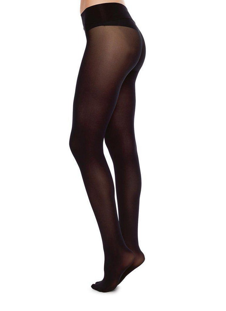 Swedish Stockings hosiery Hanna Seamless Tights - Black - alltrueist - vegan