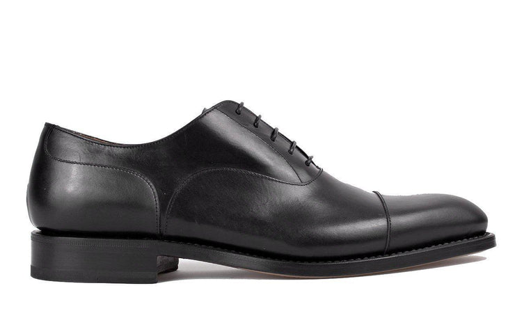 Milano | Black Cap-Toe Oxford Shoes-Men's Shoes-Marzeri-allTRUEist
