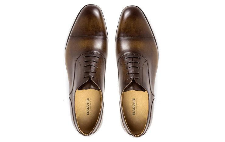 Milano | Burnished Tan Vegan Leather Oxford Shoes-Men's Shoes-Marzeri-allTRUEist