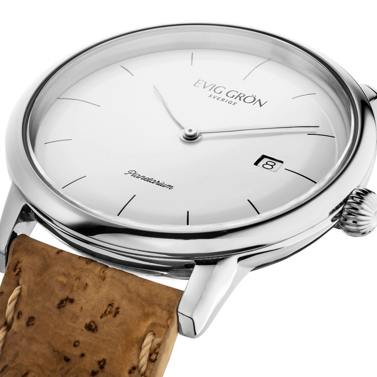 Planetarium Silver Day | Light Brown-Watch-Evig Grön-allTRUEist
