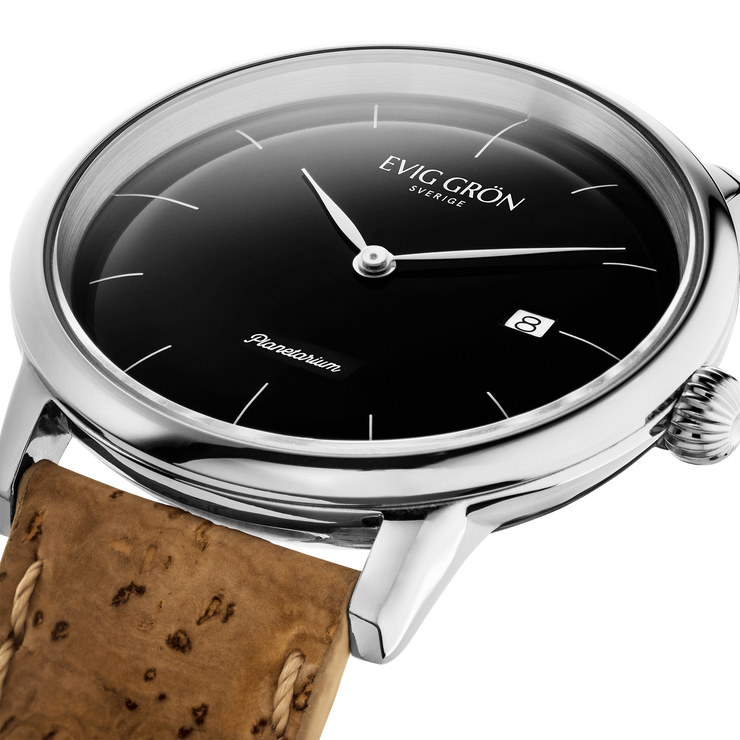 Planetarium Silver Night | Dark Brown-Watch-Evig Grön-allTRUEist