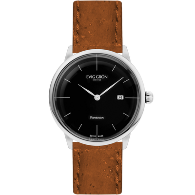 Planetarium Silver Night | Light Brown-Watch-Evig Grön-allTRUEist