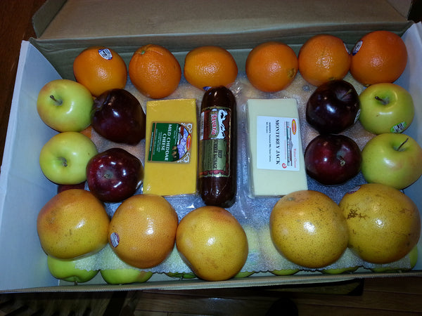 Gift Box - Large Fruit, Cheese & Sausage