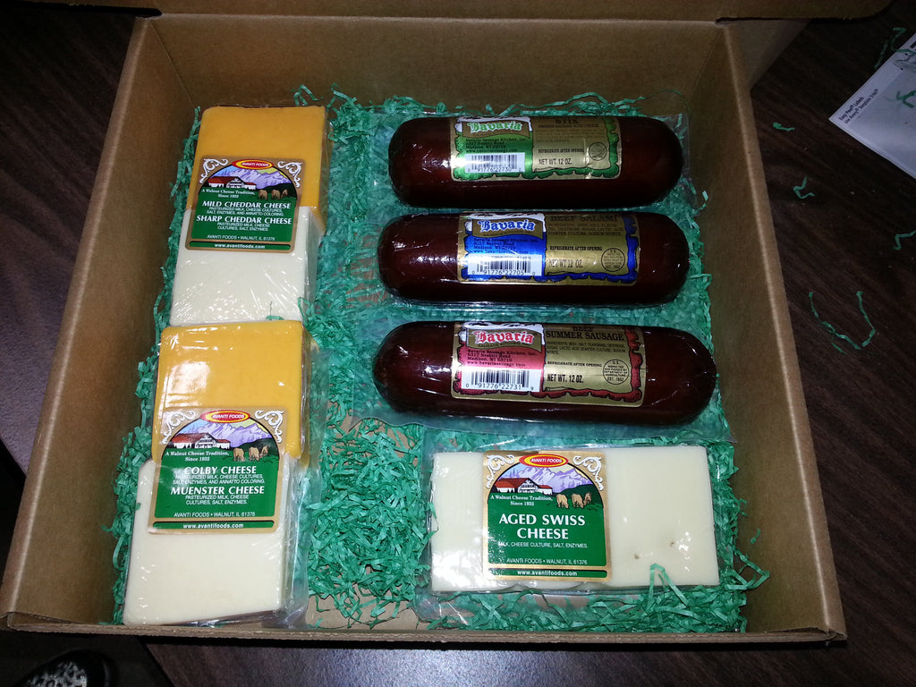 Gift Box - Mixed Cheese & Sausage