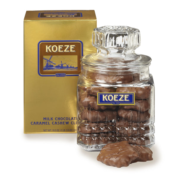 Koeze's Milk Chocolate Cashew Clusters (19.5 oz. Canister) #44052