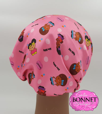 Afro Kitties Satin Bonnet