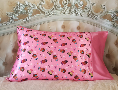 Satin Pillowcase For Curly Hair Mesmerizing Kids Satin Pillowcase Satin Bonnet Boutique