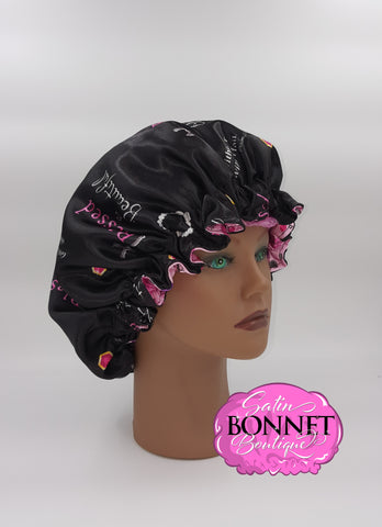 Blessed and Beautiful Satin Bonnet