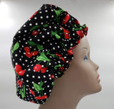 Cherries Satin Bonnet