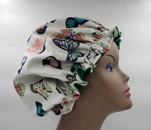 Butterfly Satin Bonnet