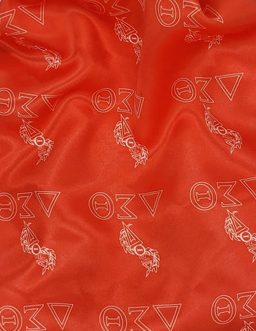 Delta Sigma Theta Themed Fabric-Red & White