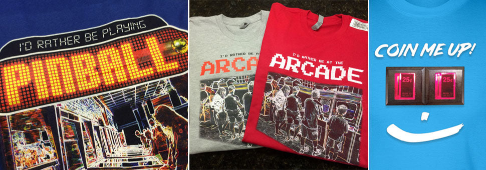 video game pinball tshirts