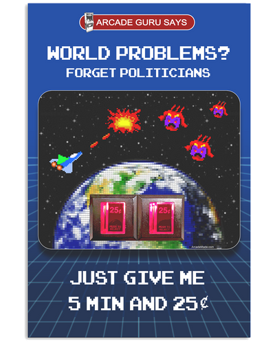 World Problems? Video Game - Poster 36x24