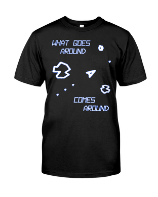 What Goes Around... Comes Around - Asteroids Space Ship - Arcade T-Shirt