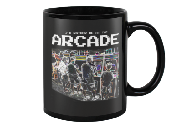 I'd Rather Be At The Arcade - Dark Mug