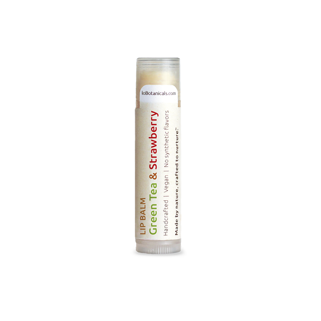 Handcrafted Green Tea & Strawberry Lip Balm
