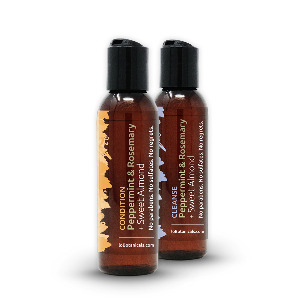 Peppermint & Rosemary + Sweet Almond Shampoo & Conditioner