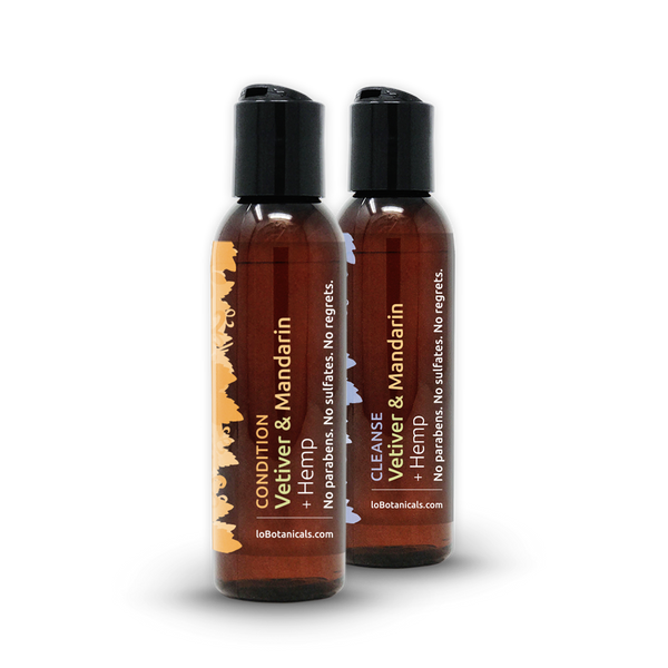 Vetiver & Mandarin + Hemp Shampoo & Conditioner