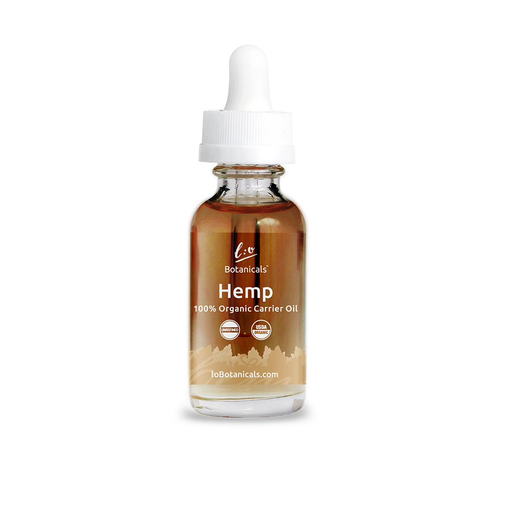 Hemp Carrier Oil - 100% Unrefined Certified Organic