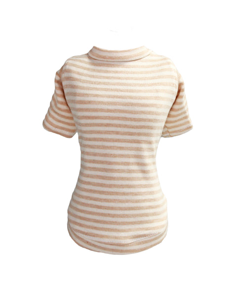 striped, baby, tee, dog, doggie, tee, hello, dog tee, striped dog tee, t-shirt, tshirt, luxury, luxury dog shirts, shirts, stripe, sleeved, pet, products, luxury pet products, made in usa, usa, handmade, handcrafted, dreamy, cuddly, cream, beige, clothing, apparel,
