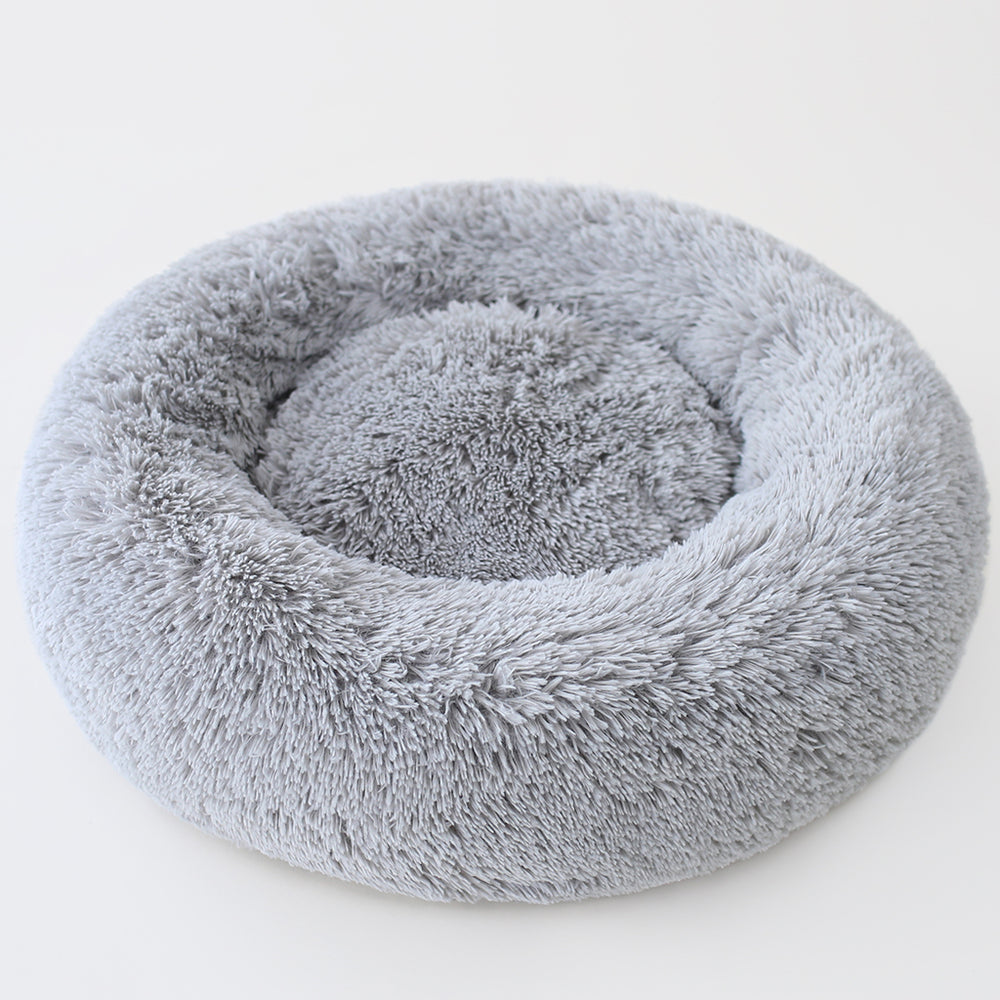 Cuddle Shag Dog Bed: Black