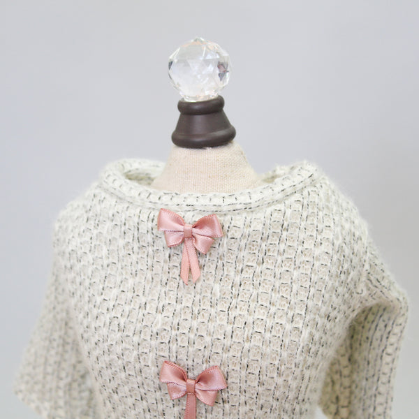 Dainty Bow Tee Sweater