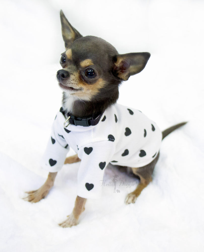 heart, tee, dog tee, dog, doggie, hello, pet, products, luxury, dog t-shirt, dog clothing, pet clothing, clothing, apparel, dog apparel, small dog tee, small, xxs, xs, teacup, tiny, yorkie, shih tzu, maltese, terrier, french, handcrafted, usa, made in usa, sleeved, hearts, cute, adorable, cotton, comfy, baby, puppy, dark grey, grey, white, black, pink, fawn, cream, purple