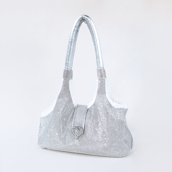 imperial, crystal, carrier, hello, doggie, dog, puppy, bag, purse, designer, bling, crystals, rhinestones, dog bag, dog carrier, dog purse, fancy, glamorous, comfort, comfy, trending, trendy, fabulous, gorgeous, baby, silver, white, grey, plush, soft, royalty, royal, love,