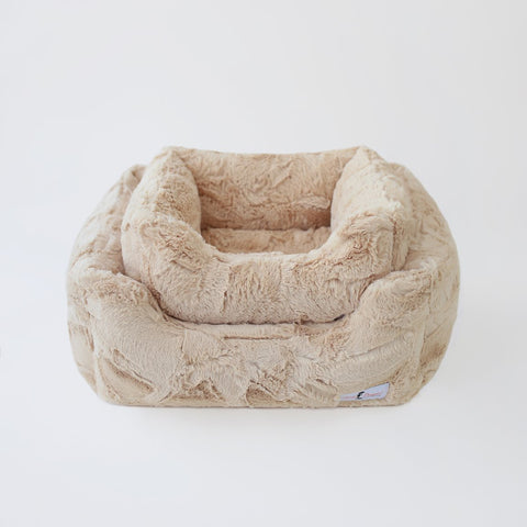 Luxe Dog Bed: Sand