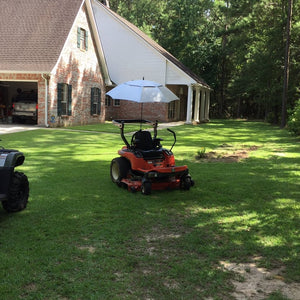 Always Shady Lawn Mower Umbrella System