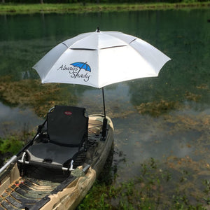 Kayak Umbrella System With Adhesive Attachment