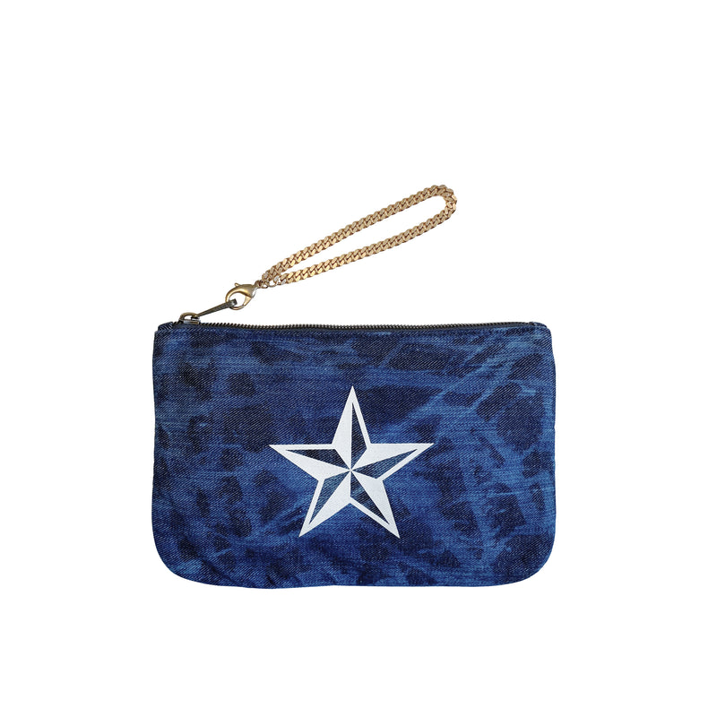 DENIM POUCH - Distressed Nautical Star