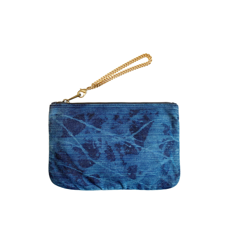 DENIM POUCH - Distressed