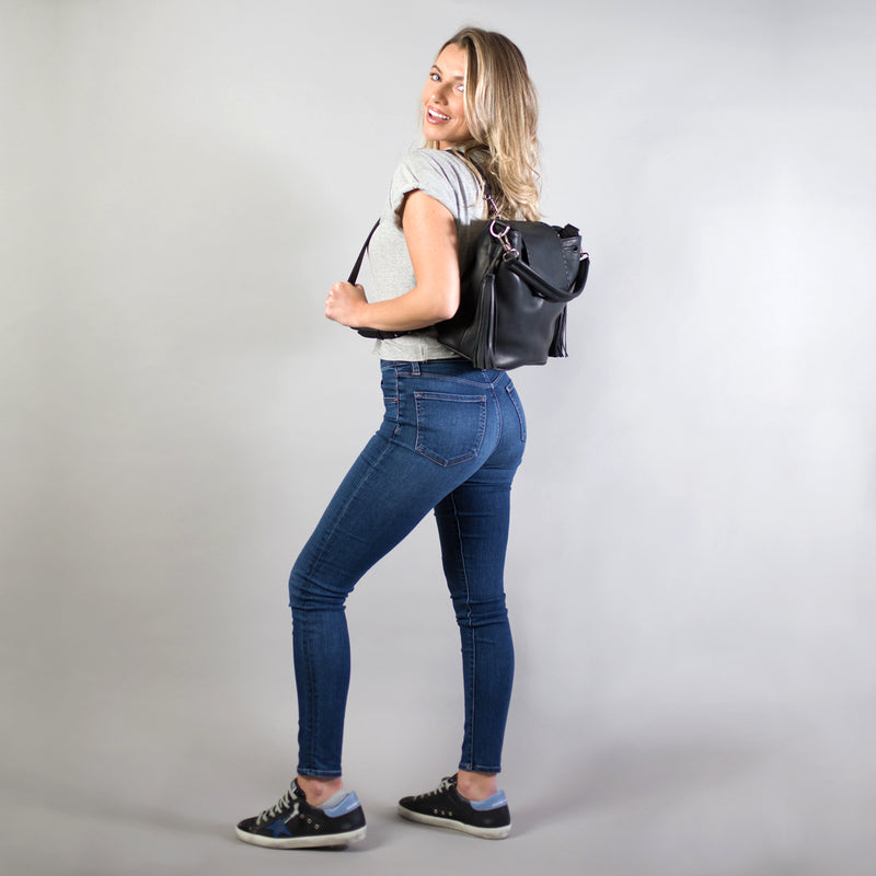 KMACK HOBO BACKPACK - Black Veg