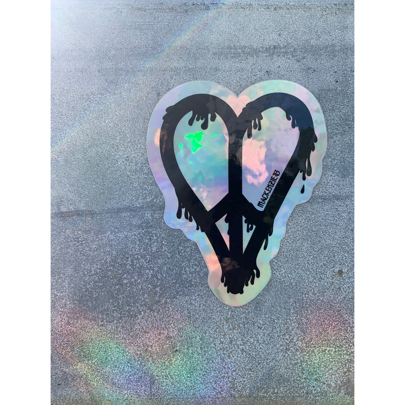 MELTING PEACE HEART STICKER