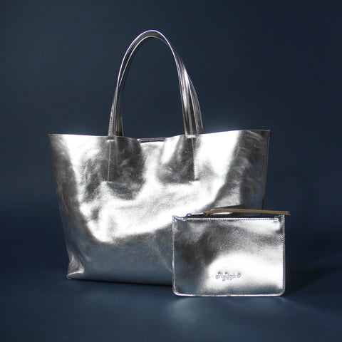 CMACK TOTE - Silver Star Metallic