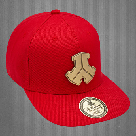Defqon.1 snapback cap, red metal