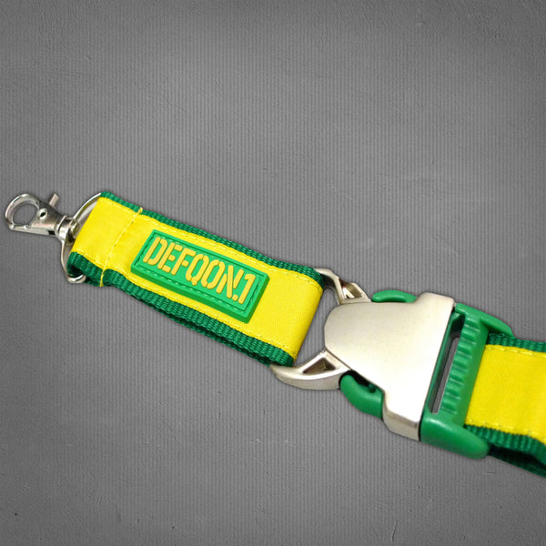 Defqon.1 lanyard, green and gold