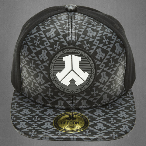 Defqon.1 snapback cap, black leather