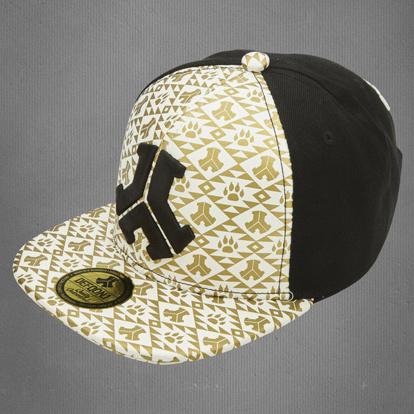 Defqon.1 snapback cap, white leather