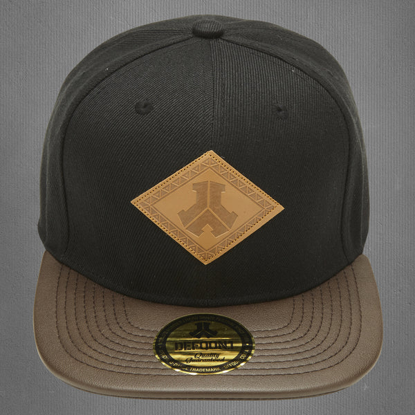 Defqon.1 snapback cap, brown leather
