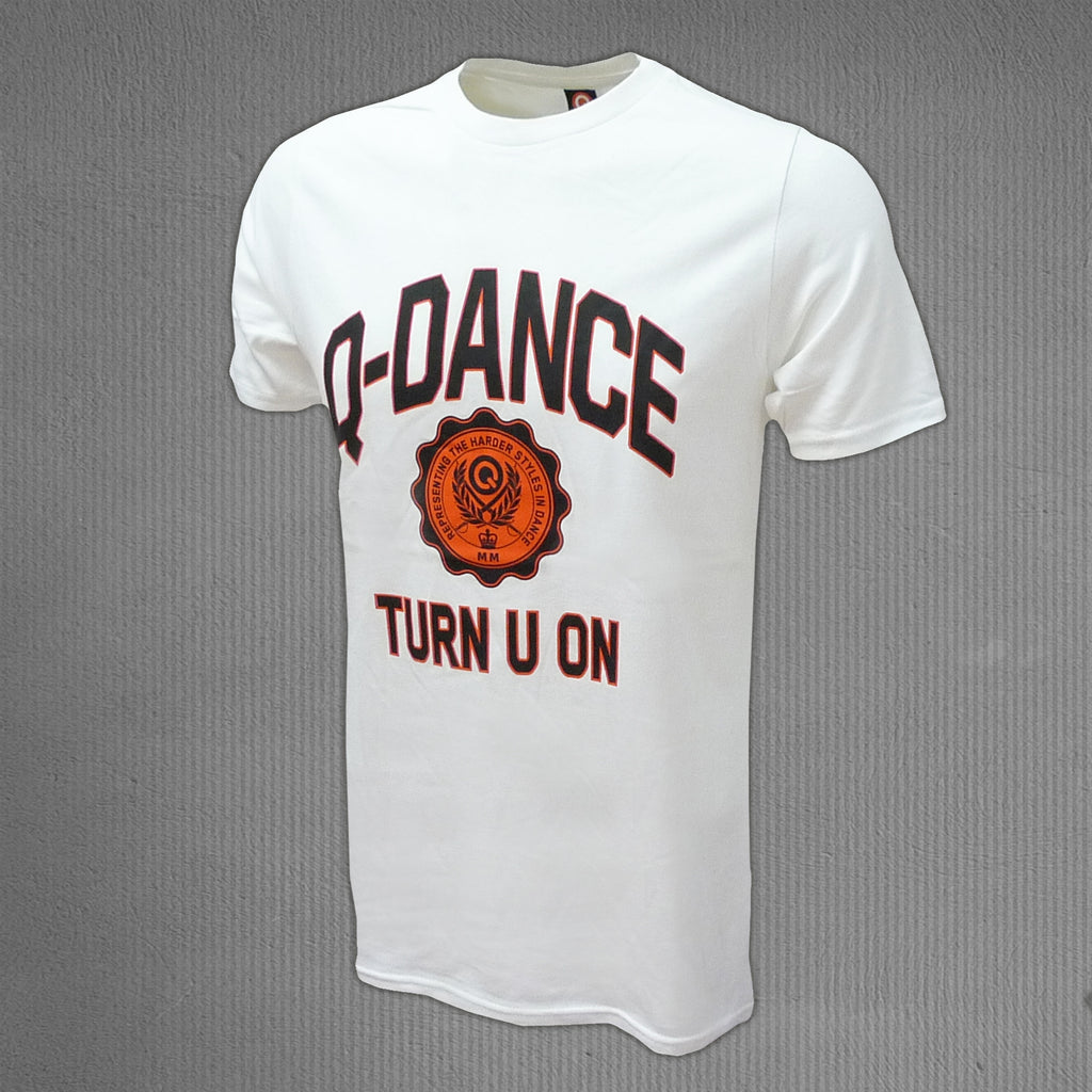 Q-dance t-shirt white, round neck men