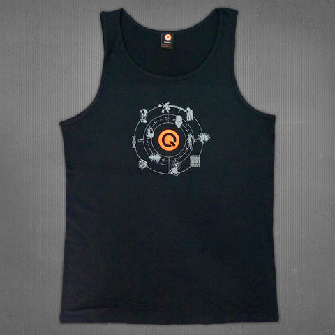IQON tank black, men