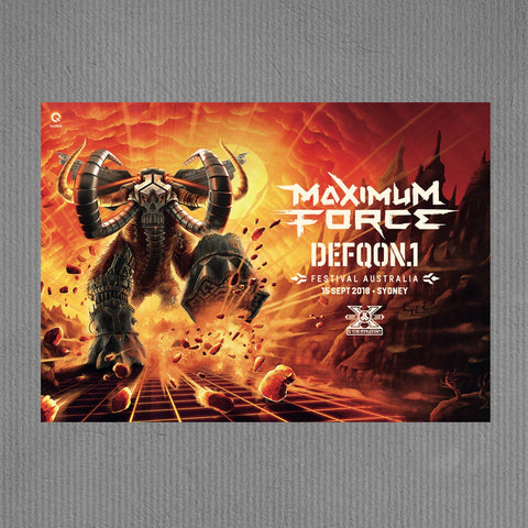Defqon.1 festival poster, Maximum Force